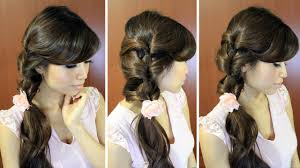 Simple Hairstyles For College Everyday Fancy Loop Ponytail Hairstyle For Medium Long Hair