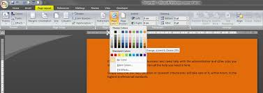 Small Picture How to change the background of a document in Word 2007