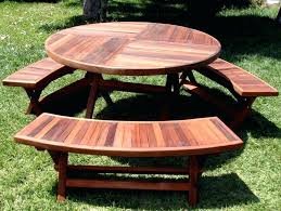 picnic table with umbrella hole table with detached benches wooden round wood tables ft plans teak picnic table with umbrella hole round