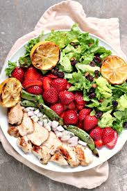 grilled chicken salad with strawberries. Beautiful Grilled Grilled Chicken Salad And Strawberries From Kissmysmokecom This Grilled  Chicken Salad Can Be Prepared Quickly Adapted To Your Tastes Intended With O