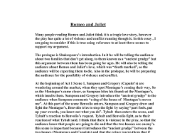 romeo and juliet tragic love story essay