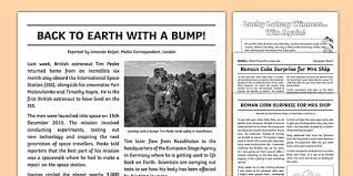 Information collected by grade 9 students. News Report Writing Example Pack Primary Resource