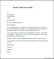 Job Application Letter For The Post Of Teacher Put The
