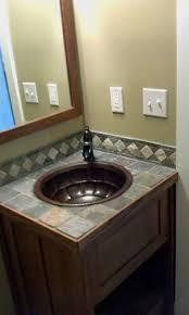 custom bathroom countertops. Unique Countertops Custom Bathroom Vanity With Slate Tile Countertop Throughout Countertops H