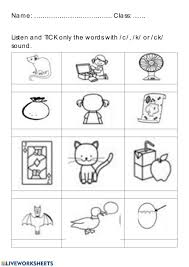 Welcome to esl printables, the website where english language teachers exchange resources: Phonics Group Ii Ck Worksheet