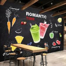 3d juice smoothie fruit wall mural