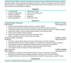 Funky Sample Resume Computer Repair Tech Collection Documentation