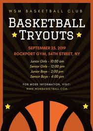 basketball training flyer template basketball club tryouts flyer templates by canva