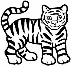 baby tiger clipart black and white. Interesting Tiger Tiger Coloring Pages For Baby Clipart Black And White G