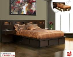 modern bed with drawers  made in canada  modern and contemporary