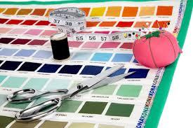 Kaufman Kona Digital Printed Color Chart Mini Quilt Learn