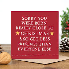 Christmas Birthday Cards Close To Christmas Birthday Card