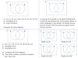 Shade Venn Diagram Venn Diagrams Ssdd Problems