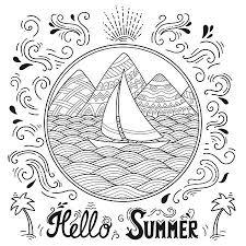 黒と白のパターンを落書きこんにちは夏のレタリングの風景 山