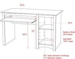 computer desk standard size desk ideas full size