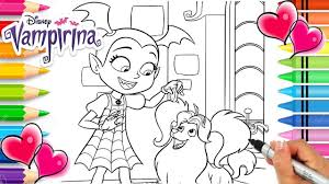 Vampirina And Wolfie Coloring Page Vampirina Coloring Book