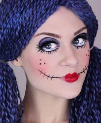 scary doll makeup tutorial for