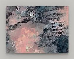 pink and brown canvas wall art