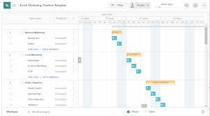 Gantt Chart Event Timeline Event Marketing Timeline Template Excel Template Free