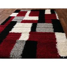 Cool Red And Gray Area Rugs 7 Hollywood Design 284 Abstract Wave