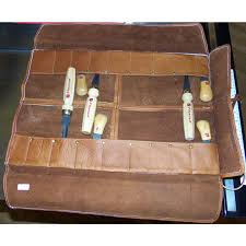 large deluxe leather chisel roll 116403 large deluxe leather chisel roll 116403