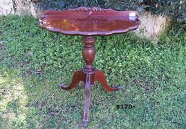 small half round hall table and other vintage tables and antiques