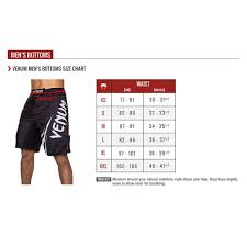 Jaco Shorts Size Chart Size Chart For Venum Fight Shorts Combosports Fight