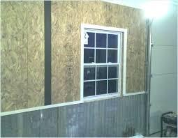 garage wall covering corrugated metal for interior walls the journal regarding plan 38