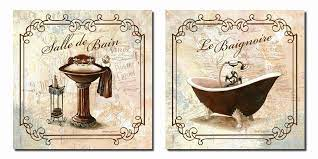 french vintage bathroom art these