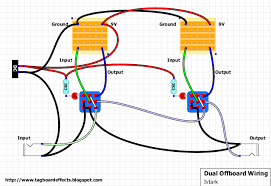 offboard wiring dual guitar fx layouts offboard wiring guitar pedal wiring diagram at
