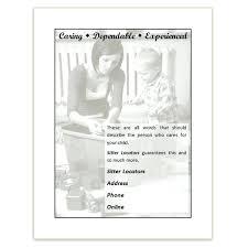 Babysitting Ads Template Maker For Word Babysitter Flyer Babysitting Flyers And