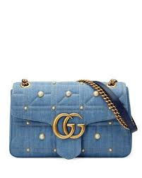 gucci bags 2016. gg marmont 2.0 medium quilted denim shoulder bag with studs gucci bags 2016