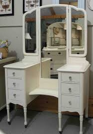 vanity desk with mirror bed bath and beyond white finished glass wall panel u shape stretcher