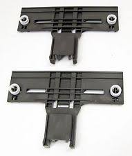 kenmore dishwasher black. 2 pack w10350376 dishwasher upper rack adjuster for kenmore kitchenaid black