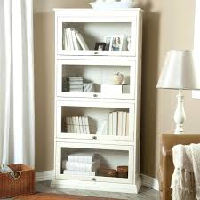 book shelves with glass doors home 4 tier barrister bookcase creamy white contemporary bookcases cabinets and