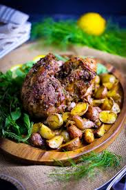 Boneless Roasted Leg Of Lamb With Potatoes And Fennel Recipe