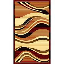 red brown and cream area rugs modern waves red area rug orange brown cream wave stripes