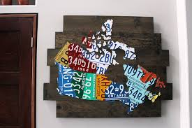 license plate map of canada  on license plate map wall art with map of canada license plate art vintage industrial art handmade