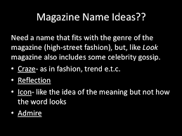 high street fashion magazine pitch 8 magazine ideas