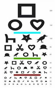 Details About Framed Print Children S Eye Chart Square Circle Heart Picture Snellen Test