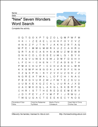 new seven wonders of the world printables word search and new seven wonders of the world printables new seven wonders wordsearch print the new seven wonders word search and the new seven wonders related