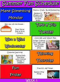 Summer Camp Weekly Schedule A Version Of Perfection Feeling Our Way Through Autism Sensory