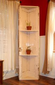 a corner shelf i made out of an old door