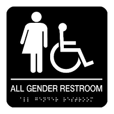 bathrooms signs. All Gender Restroom (Accessibility) - Braille Signs Bathrooms G
