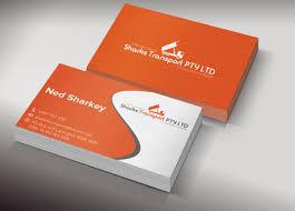 Building Business Card Design For Sharks Transport By Valiz