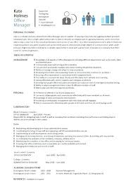 Cv Template Office Office Manager Cv Template Resume Financial Letsdeliver Co