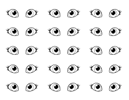 Small Picture Cute Eye Coloring Pages Horse Pages With Big Eyes Page Photo