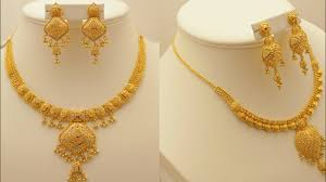 Latest Gold Sets Designs In India Latest Beautiful Designs 22 Carat Indian Gold Necklace Set