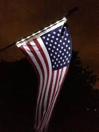 Flag Lights Pole Homebrite 77112 Solar Night Flag With Pole Products Flag
