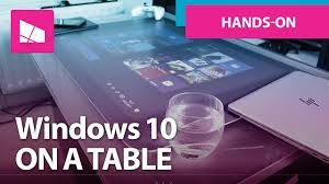 Micrsoft Table Windows 10 On An Original Microsoft Surface Coffee Table Youtube